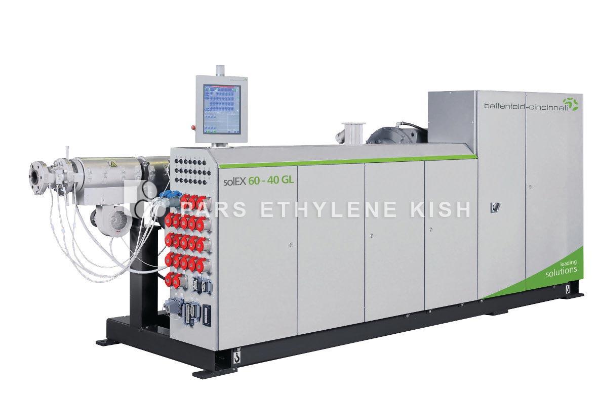 Extruder of polyethylene pipe production line