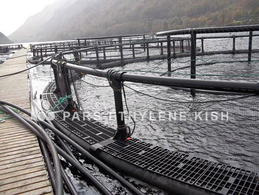 لوله پلی اتیلن قفس پرورش ماهی