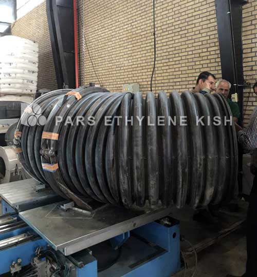Production of Double wall Polyethylene Pipe