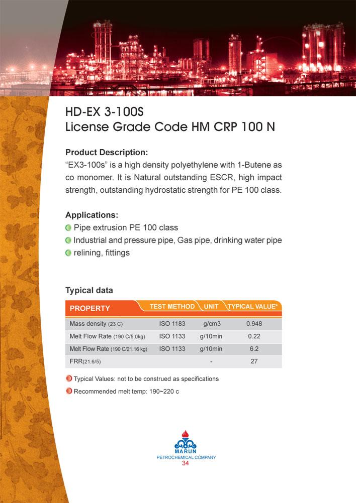 جدول اطلاعات مواد مارونHDEX3