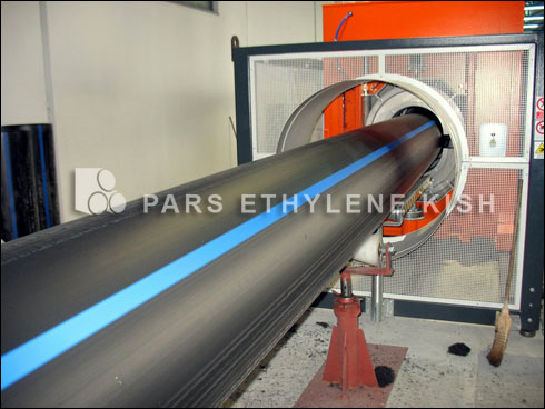 Production of PE pipe