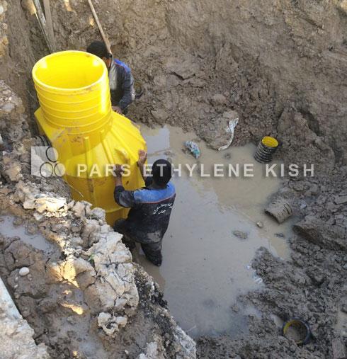 Aplicación de pozo en polietileno(agujero de hombre)