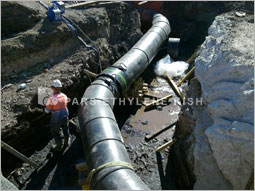 installation of single-wall HDPE pipes