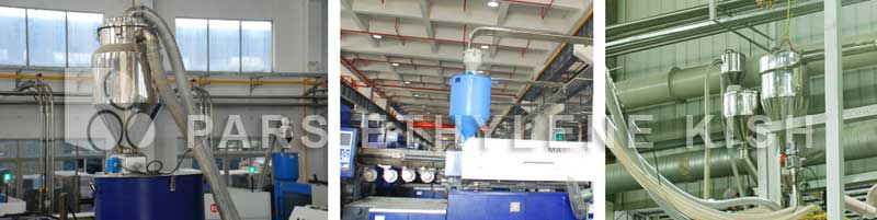 Loading machine of the raw material