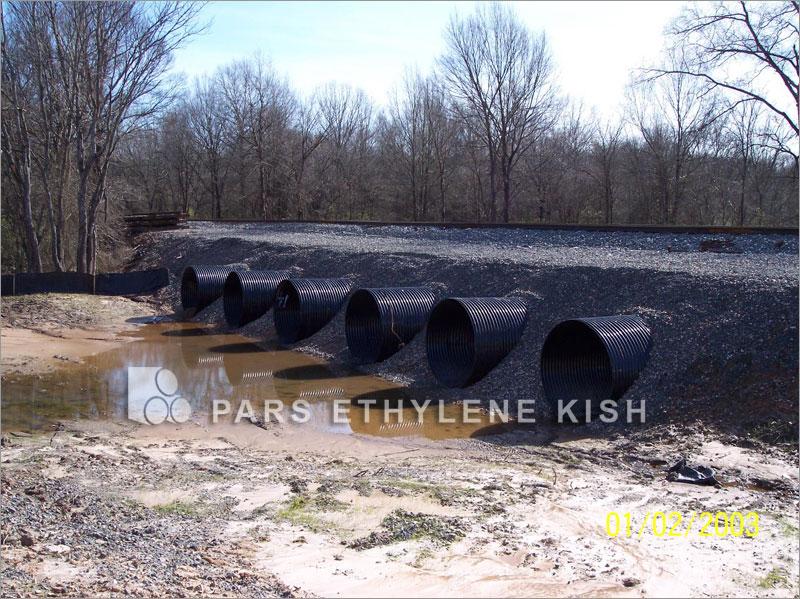 El uso de tuberías de polietileno en tren y ferrocarril urbano
