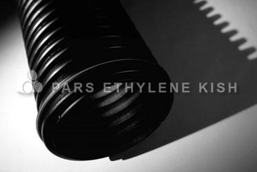 شکل 3-1: لوله پلی اتیلن سنگین نوع سی با سطوح داخلی و خارجی کاروگیت