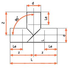 اتصال سه راهی 90 درجه