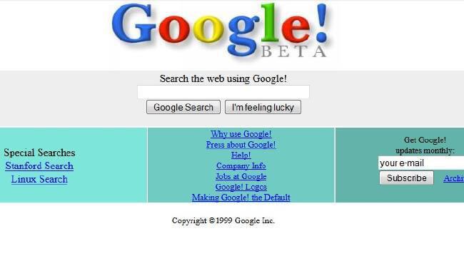 ظاهر اولیه گوگل