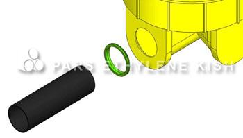 اتصال لوله پلی اتیلن به منهول پلی اتیلن
