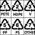 علائم و اعداد بازیافت بر روی پلاستیک ها پلیمری