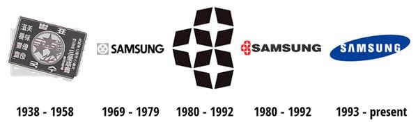 لوگوهای سامسونگ در طول زمان